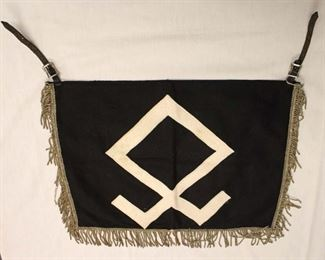 """Lot 120: German Double Sided SS/Division Mark Trumpet Banner 3 Sided Fringe approximately 20""""x14"""""""