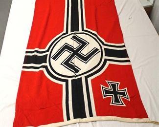 "Lot 122: German Reichskriegsflag Military Army Battle Flag approximately 38""x65"""