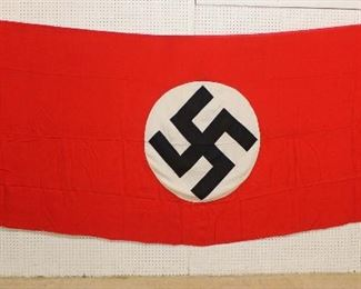 """Lot 123: German NSDAP Window Banner/Building Flag approximately 147""""x59"""""""