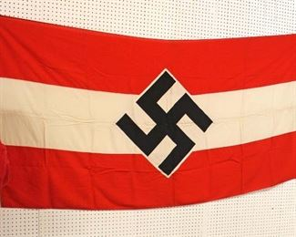 """Lot 124: German Hitler Youth Flag HJ approximately 91""""x46"""""""