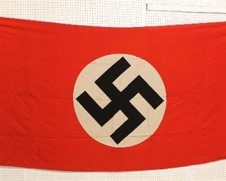 """Lot 127: German NSDAP Window Banner/House Flag approximately 152""""x61"""""""