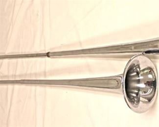 Lot 129: 2pc lot: Pair of Display Trumpets
