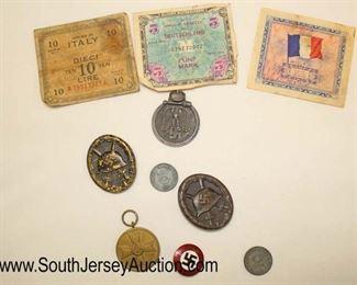 Lot 135: German Pins, Money, and Memorabilia