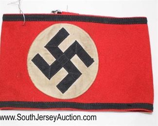 """Lot 134: German Arm Band approximately 8""""x5"""""""