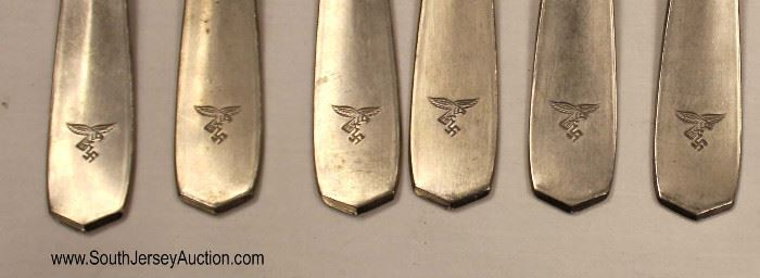 Lot 145: 6pc lot: German Forks Engraved with Swastika