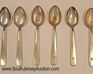 Lot 144: 6pc lot: German Serving Spoons Engraved with Swastika