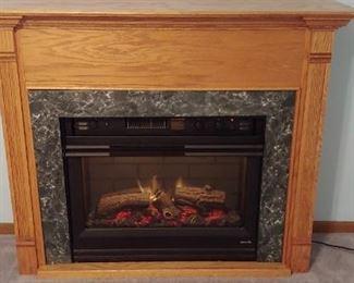 heat n glow electric fireplace--a beauty.