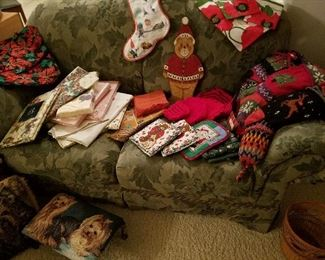 Tableclothes, Potholders &  Christmas Stockings  Hand Knit in Nepal