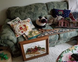 Needlepoint  & Wool  Cushions, Handmade Sheep, Wall Clock, Stationery, & Wall Hangings