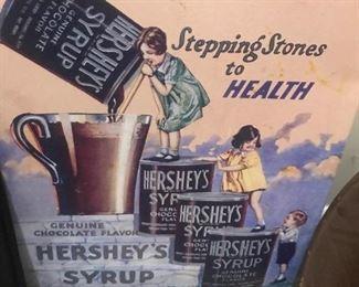 Metal Hershey sign