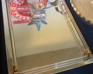 Glass desk display item
