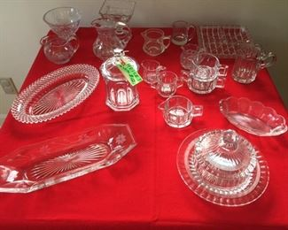 Heisey and misc. pcs. vintage glassware
