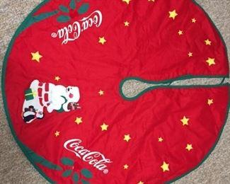 Coca-Cola Christmas tree skirt