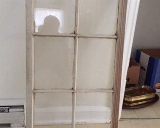 Two old six-pane windows
