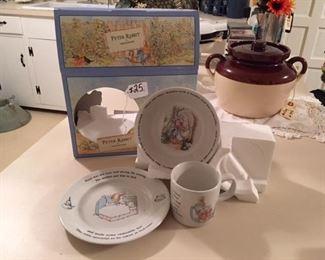 Wedgewood Peter Rabbit mug, plate, bowl