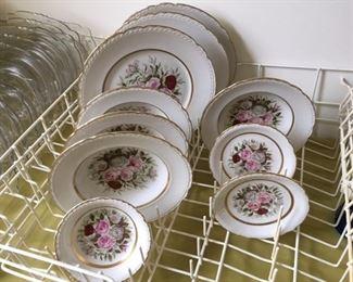 Royal Jackson by Vogue Ceramic Industries.  3 plates, 4 soup/cereal bowls, 2 saucers, 1 fruit bowl