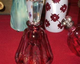 cranberry perfume bottle