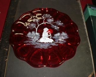 Mary Gregary art glass plate