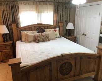King Rustic/Pine Texan Bed