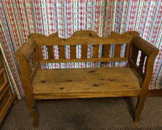 Rustic/Pine Texan Bench