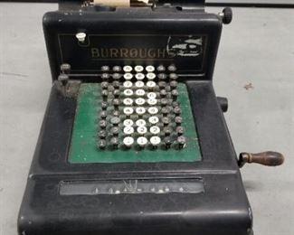 Vintage adding machine, Burroughs circa, 1909