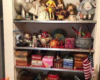 Upstairs Dolls and misc items
