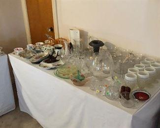 Main floor glassware