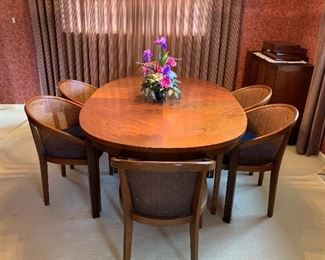 MCM. Dining Table & Chairs. Mozambique Wood