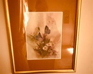 Framed watercolor - signed