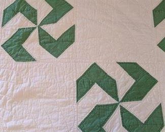 close up of Pinwheel quilt