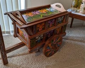 Serving cart from Costa Rica