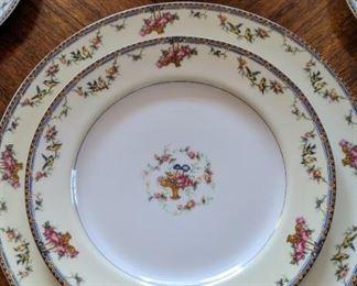 Vintage Haviland Limoges porcelain china made for Carson Crockery Co. 45 pieces