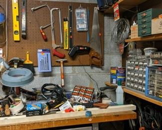 Lots of  name brand tools and hardware