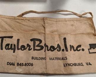 Vintage Taylor Bros carpenter apron