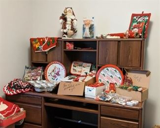 Christmas items and decorations
