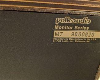 Polk audio Monitor series M7 (pair of speakers)