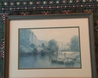 """Paul Sawyer limited edition print, """"The Wall at Dix River"""""""