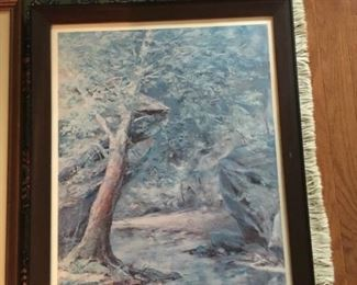 """Al Cornett, """"Violets and Sycamores,"""" 1 of 500 numbered and signed"""