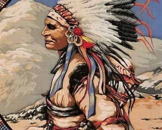 Absolutely gorgeous Native American art on pillows and home decor and on the walls in canvases and sculptured pieces!