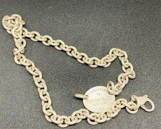 """Tiffany & Company solid sterling silver rope choker necklace 15"""" long clearly marked, price is $125.00 each, and I have 2 of these for sale."""