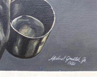 Original oil on canvas. Gnatek signature.