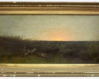"Wonderful Signed ""Eakins"" Oil Painting"