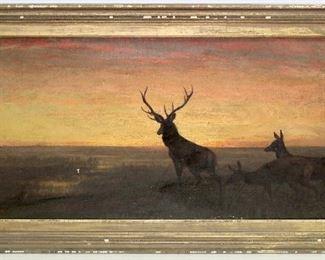 Wonderful Signed Eakins Oil on Canvas