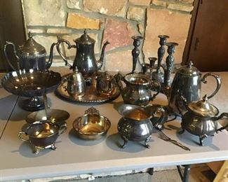 Assortment of Silver Plated Decor