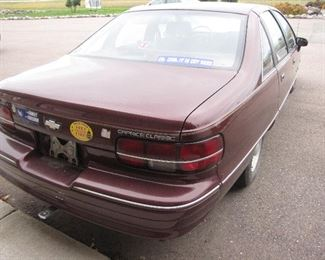 One Owner 1991 Chevrolet Caprice Classic - 140,000 Miles Lots of power accessories - Had history of a right side fender bender, well repaired, full size spare. Drives nice. Std V-8. Great inexpensive, comfortable transportation.