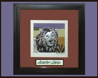 Cool Lion Picture Signed