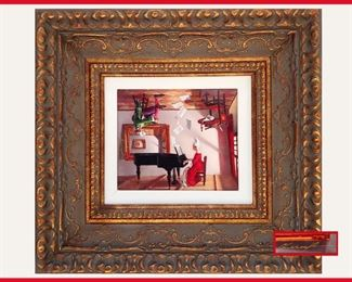 Cool Signed Picture in Ornate Frame, Can Hang Either Way. The next photo shows it totally reversed