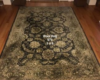 Wool rug foyer