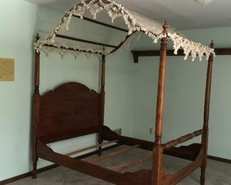 19th century full sized canopy bed.