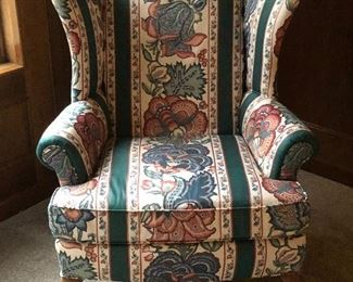 Pair of wing back chairs by Pennsylvania House
